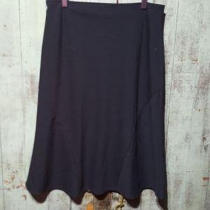 Samuel Dong Black A-line skirt
